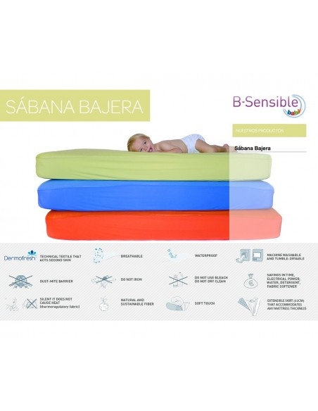 SABANA IMPERMEABLE B SENSIBLE TENCEL 120X60 CM
