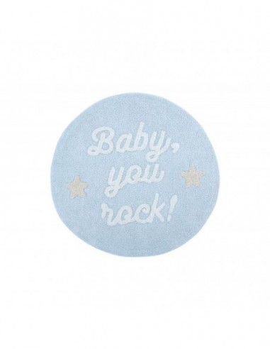 ALFOMBRA LAVABLE 120CM BABY YOU ROCK LORENA CANALS