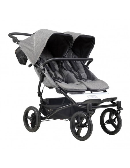CARRO GEMELAR DUET 3.0 LUXURY HERRINGBONE + CAPAZOS DUO MOUNTAIN BUGGY