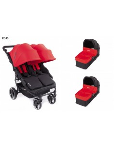 Carrito de bebé gemelar Easy Twin 3S Light Duo de Baby Monsters