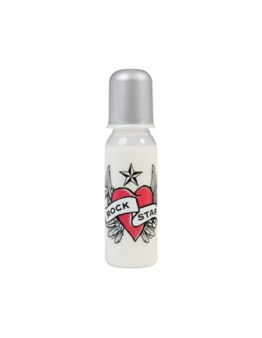BIBERÓN ROCK STAR BABY HEART & WINGS 250 ML